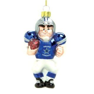 Dallas Cowboys 4 Glass White Football Player Holiday