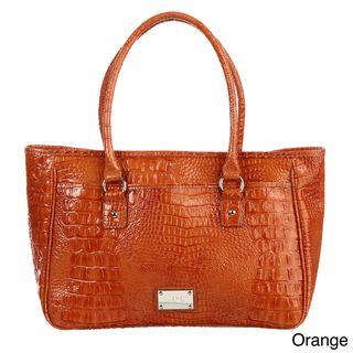 Nine West Tuffed Croco Large Shopper Bag