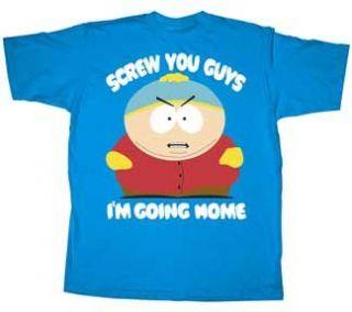 South Park Screw You Guys Cartman Blue T Shirt XXL