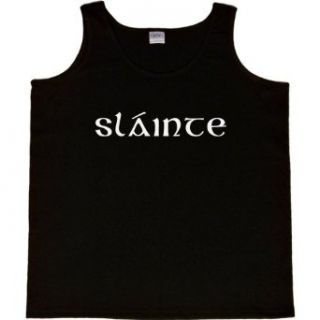 WOMENS TANK TOP  BLACK   LARGE   Slainte (Cheers in Irish