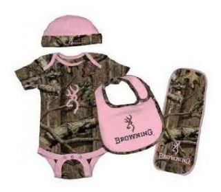 Browning Baby Camo Set   4 Piece: Clothing