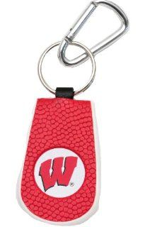 NCAA Wisconsin Badgers Team Color Basketball Keychain