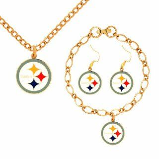 NFL Pittsburgh Steelers Jewelry Set: Sports & Outdoors