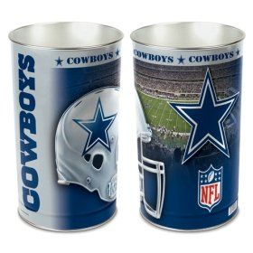 Dallas Cowboys 15 Waste Basket Tapered Top & Feature