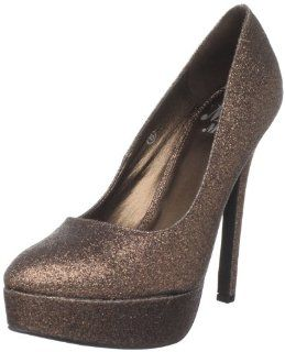 Miss Me Womens Vibe 2 Platform Pump,Bronze,7 M US Shoes