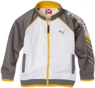 Puma   Kids Boys 2 7 Little In Play Jacket, White/Grey, 6