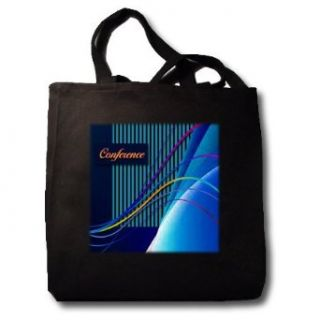 Conference Abstract Curves and Lines   Black Tote Bag 14w