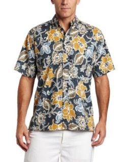 Reyn Spooner Mens Onomea Shirt, Navy, X Large Clothing