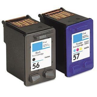 HP 56/ 57 Black/ Color Ink Cartridge (Remanufactured) (Pack of 2