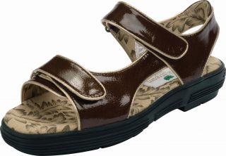 Golfstream Womens Patent Leather Golf Sandals