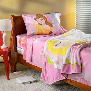 Disney Princess Girls Talk Twin Sheet and Blanket Set
