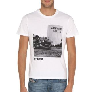 MELTIN'POT T Shirt Aton Homme Blanc   Achat / Vente T SHIRT MELTIN