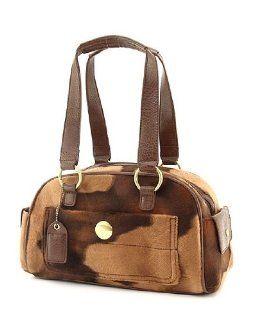 Cow Handbags Animal Print Purses Fur Tote Bag (Coffee) Shoes