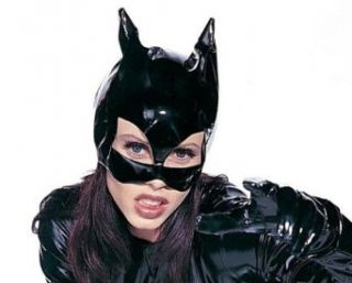 Adult Catwoman Vinyl Costume Mask: Clothing