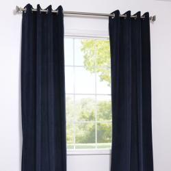 Grommet Moroccan Blue Velvet 108 Inch Curtain Panel