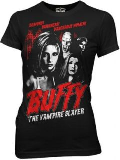 Buffy The Vampire Slayer Juniors T shirt   Retro Style