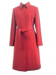 Womens Kneelength Cashmere Blend Overcoat Clothing