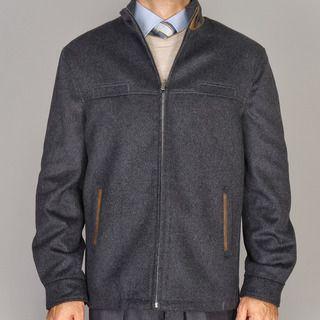 Mantoni Charcoal Grey Wool/Cashmere Blend Modern Jacket