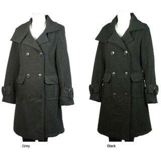 Daniel Laurent Womens Wool Blend Coat