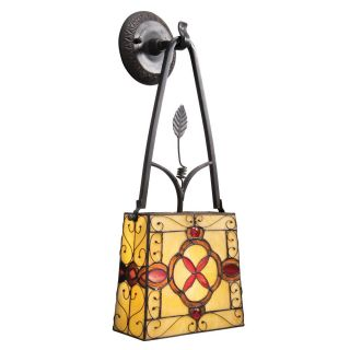 Tiffany style Glass Bronze 1 light Wall Sconce