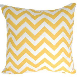 Corn Yellow Designer Zig Zag Chevron Throw Pillow Cover