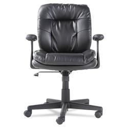 OIF Black Swivel/Tilt Leather Task Chair