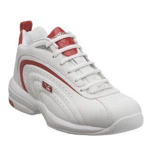 com Reebok Mens Pivot II Basketball Shoe,White/Red/Silver,7 M Shoes
