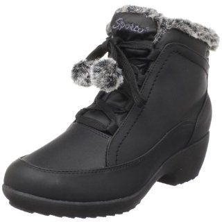 Sporto Womens Lucy Faux Fur Ankle Boot,Black,6 M US Shoes