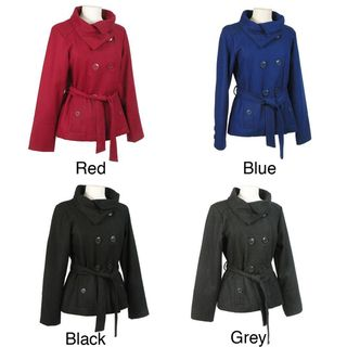 Cecil Gee Womens Double breasted Wool Blend Jacket