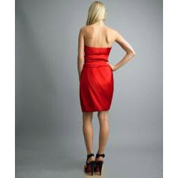 Issue New York Womens Sienna Pleated Bubble Hem Strapless Dress