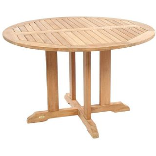 Teak 48 inch Round Outdoor Dining Table