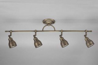 Bronze finish 4 light Flush Rail Ceiling Fixture