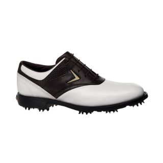 Callaway Mens Tour Authentic FT Chev Saddle White/ Brown Golf Shoes