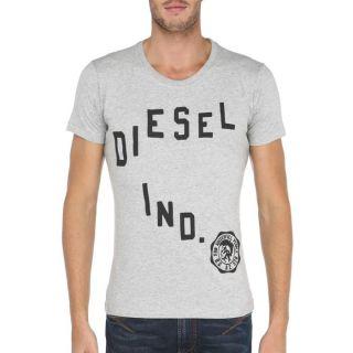 Coloris  gris chiné. Tee shirt DIESEL Homme 100 % coton, col rond