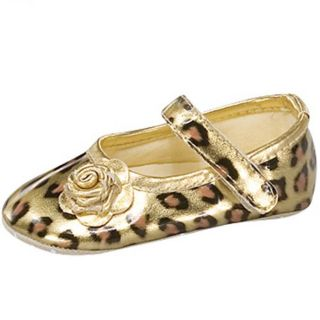 Baby Girl Gold Leopard Ballet Flat Crib Shoes