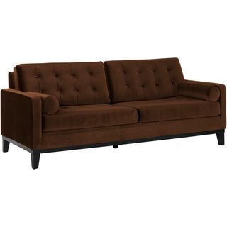 Modern Brown Velvet Sofa