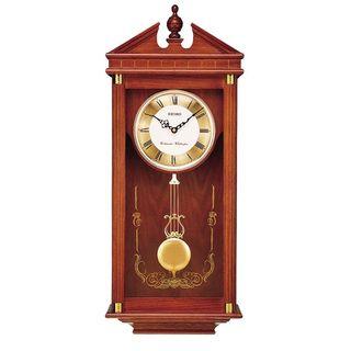 Seiko Dark Brown Oak Case Westminster/ Whittington Pendulum Wall Clock
