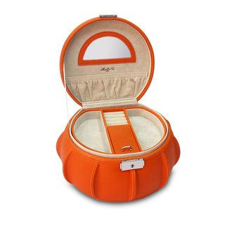 Orange Allison Leather Jewelry Box