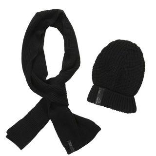 DIESEL Bonnet+Echarpe Homme Noir   Achat / Vente BONNET   CAGOULE