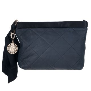 Lanvin Navy/ Black Amalia Clutch