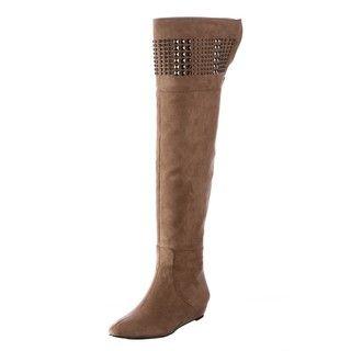 CARLOS by Carlos Santana Womens Original Grey Over the knee Boots