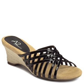 A2 by Aerosoles Womens Zentertainer Black Patent Sandals