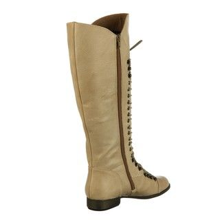 Steve Madden Womens P Lorra Taupe Knee high Riding Boots