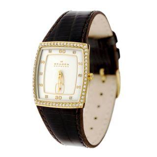 Skagen Ladies Brown Leather Band Watch