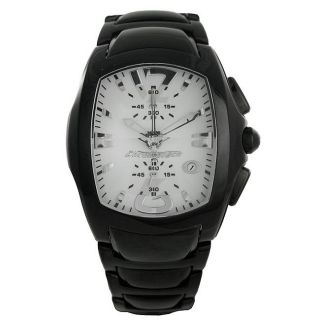 Chronotech Mens Prisma Revolution Stainless Steel White Dial Watch