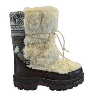 Muk Luks Massak Neutral Short Faux Fur Boots