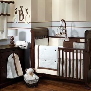 Lambs & Ivy Park Avenue Baby 5 piece Crib Bedding Set