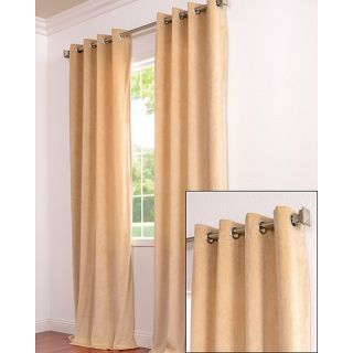 Signature Grommet Wheat Velvet 120 Inch Curtain Panel