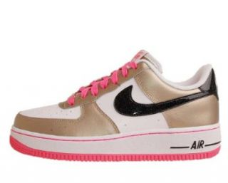 White Gold Pink Youth Girls Casual Shoes 314219 108 [US size 6] Shoes