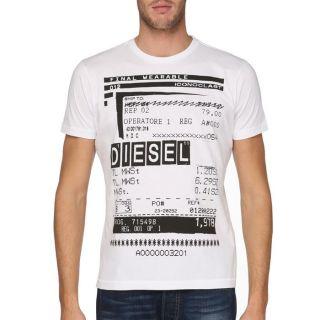 DIESEL T Shirt Barco Homme Blanc   Achat / Vente T SHIRT DIESEL T